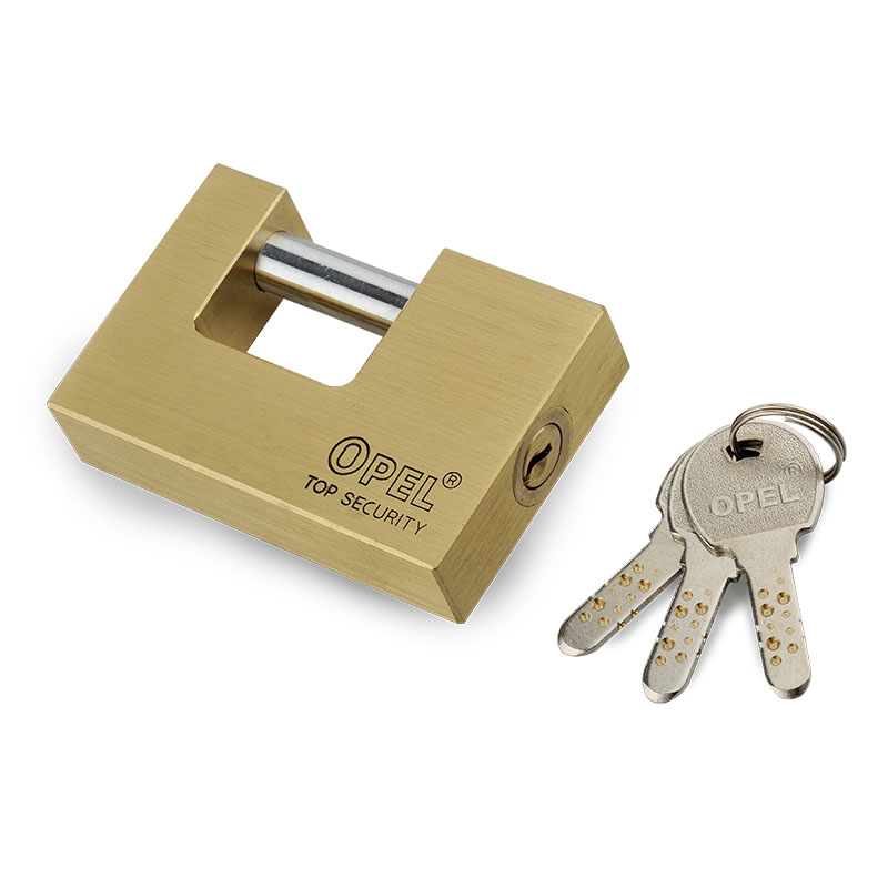 Premium Security  Rectangle 3 side computer key Brass Padlcok