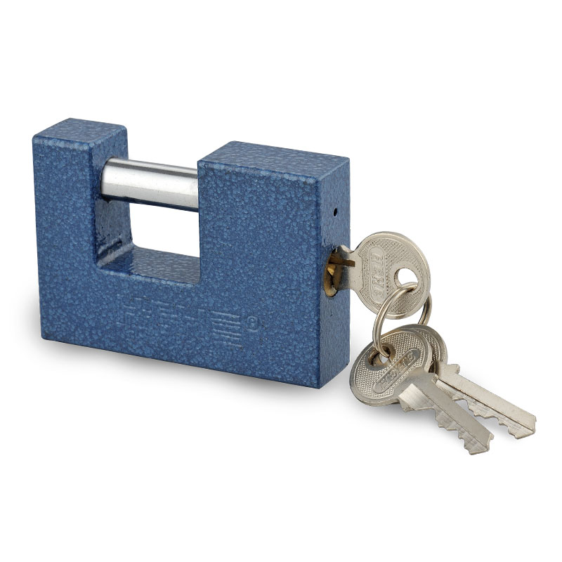 Premium Security Color Painted  Rectangle Iron Padlock