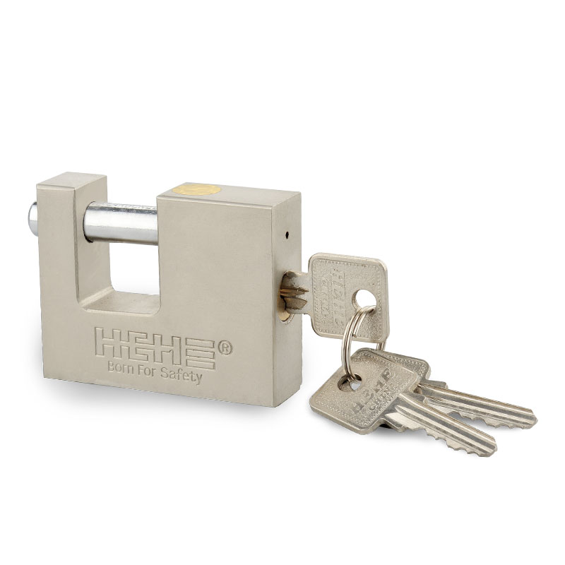 Premium Security Ni-Plated S Key Rectangle Iron Padlock