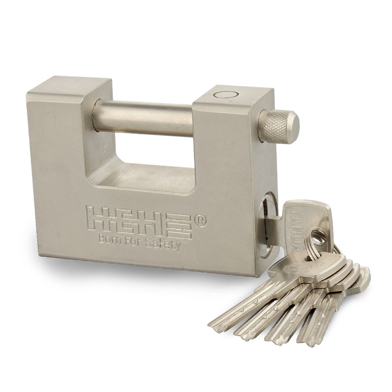 Premium Security Heavy Duty Ni-Plated Rectangle Iron Padlock